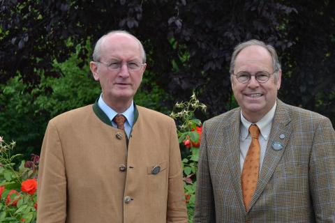 Jochen Borchert (l.) und Hartwig Fischer